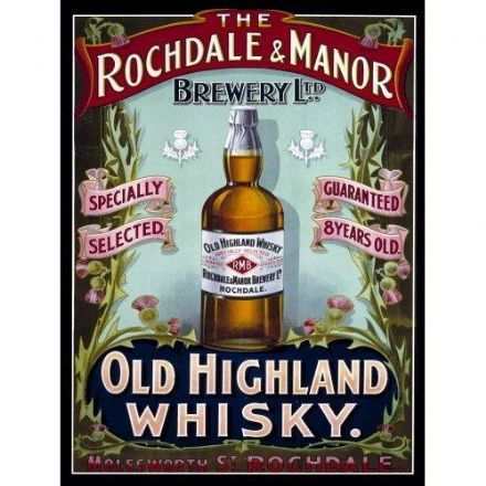 Rochdale and Manor Brewery Metal Wall Sign (2 sizes)